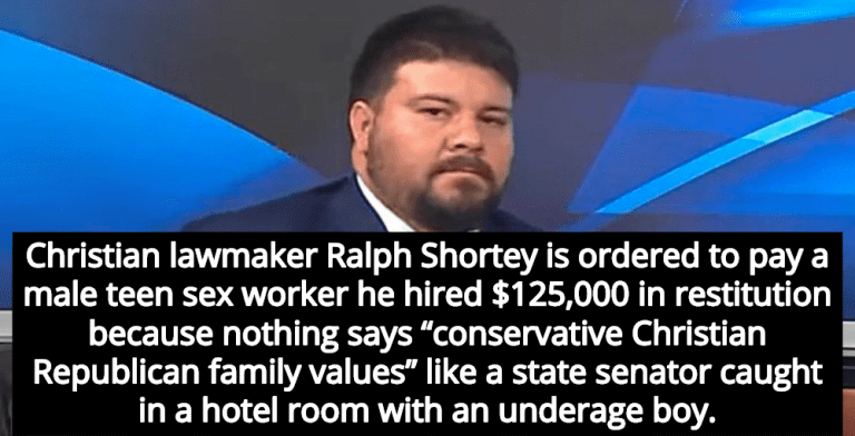 Imprisoned Anti-Gay GOP Senator Ralph Shortey Ordered To Pay Male ...