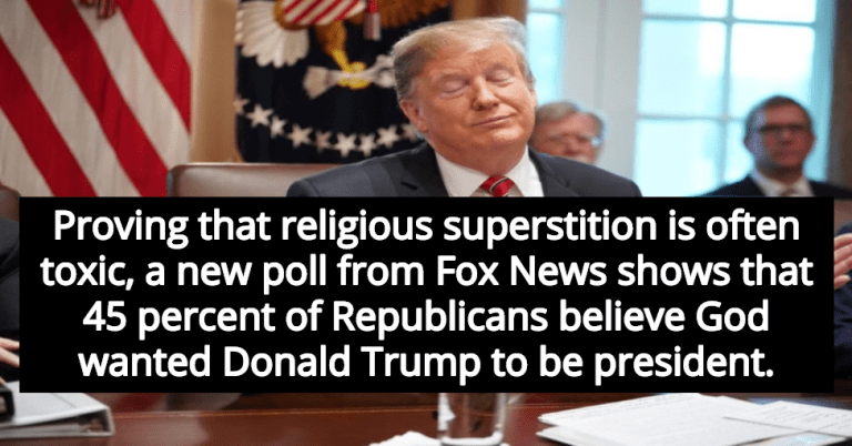 Report: 45 Percent Of Republicans Believe God Wanted Donald Trump To Be President (Image via Screen Grab)