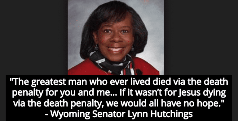 Wyoming Senator Lynn Hutchings Defends Death Penalty Because Jesus Was Executed (Image via Wyoming Public Media)