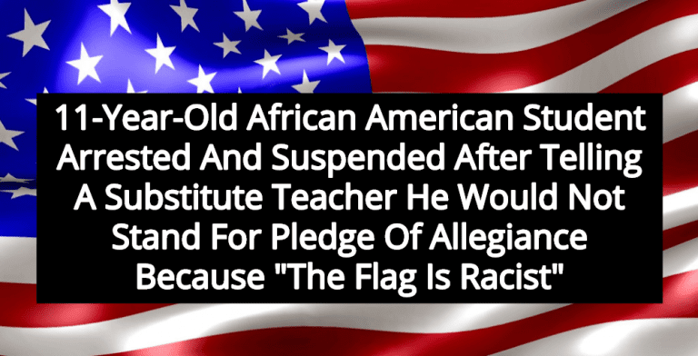 11-Year-Old Florida Student Arrested After Refusing To Stand For Pledge Of Allegiance (Image via Wikimedia)
