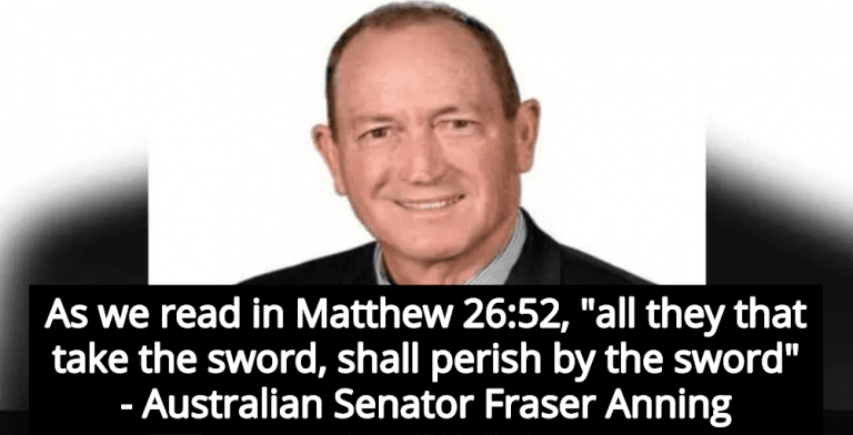 Australian Senator Cites Bible To Blame Muslims For New Zealand Terrorist Attack (Image via Twitter)