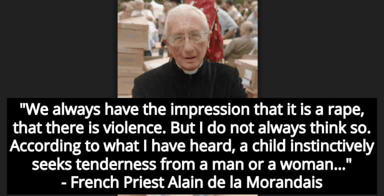 French Priest Claims Child Rape Is Not Violence But 'Tenderness' (Image via YouTube)