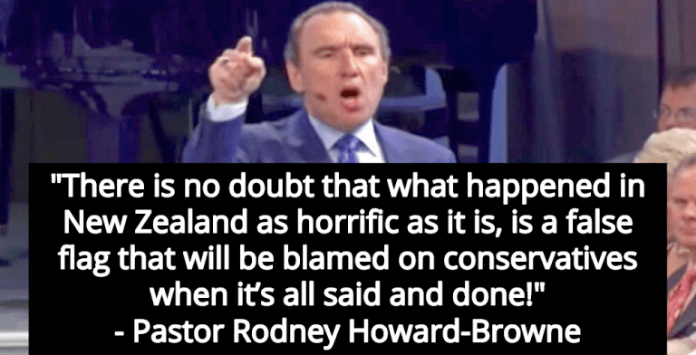 Trump-Loving Megachurch Pastor Calls New Zealand Terror Attack 'False Flag' (Image via Screen Grab)
