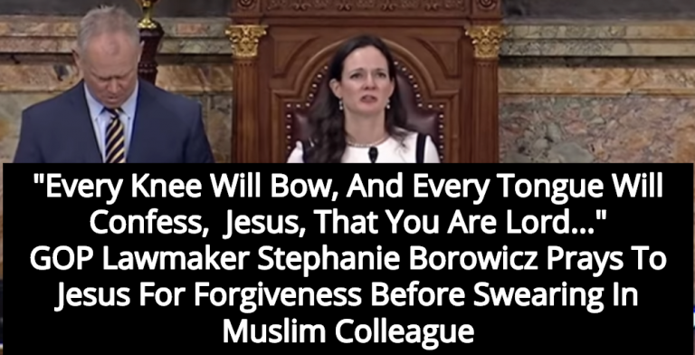 GOP Lawmaker Prays To Jesus For Forgiveness Before Swearing In Muslim Colleague (Image via Screen Grab)