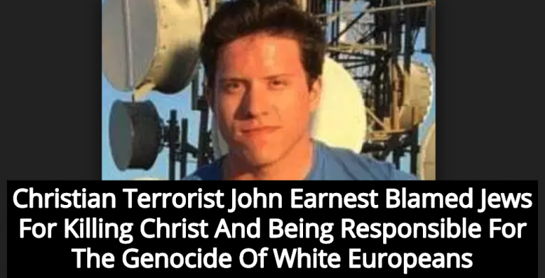 Christian Terrorist John Earnest Issued Manifesto Before