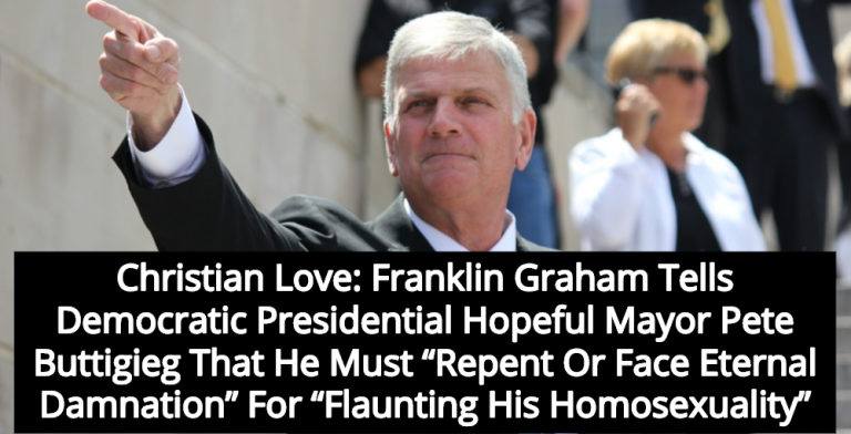 Franklin Graham Warns Pete Buttigieg: Repent Or Face Eternal Damnation (Image via Facebook)