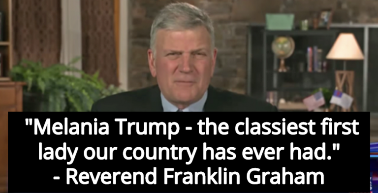 Franklin Graham: Melania Trump Is 'The Classiest First Lady Our Country Has Ever Had' (Image via Screen Grab)