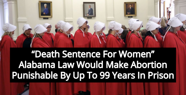 Alabama Law Would Punish Women Who Have Abortions With 99 Years In Prison (Image via YouTube)