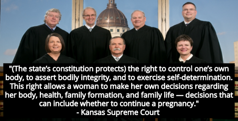 Kansas Supreme Court Rules State Constitution Protects Abortion Rights (Image via kscourts.org)