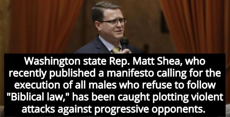 GOP Lawmaker Who Promotes 'Biblical Law' Busted Planning Violent Attacks (Image via Screen Grab)
