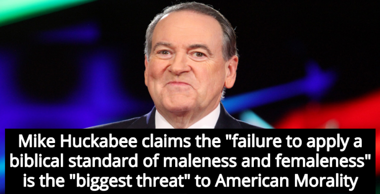 Mike Huckabee Argues LGBTQ People Are 'Biggest Threat' To American Morality (Image via YouTube)