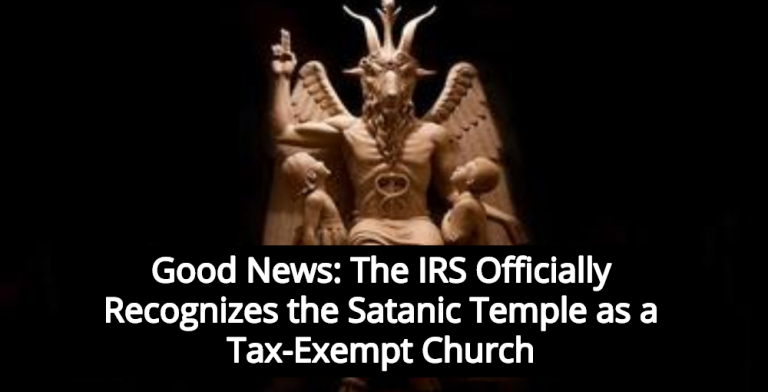 Satanic Temple Wins Official IRS Recognition As Tax-Exempt Church  (Image via Twitter)