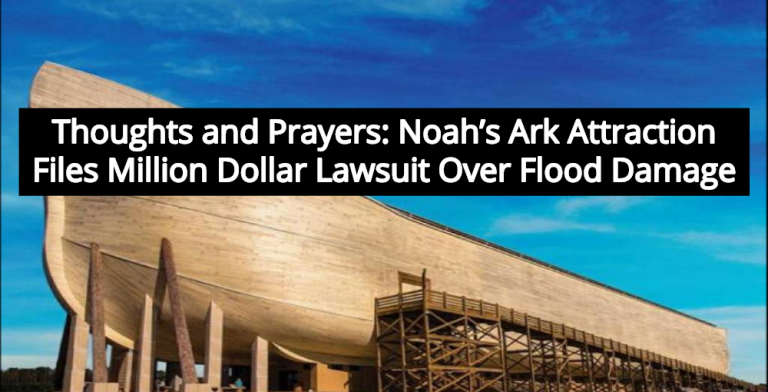 Ken Ham's Ark Encounter Files $1 Million Lawsuit For 'Rain Damage' (Image via YouTube)