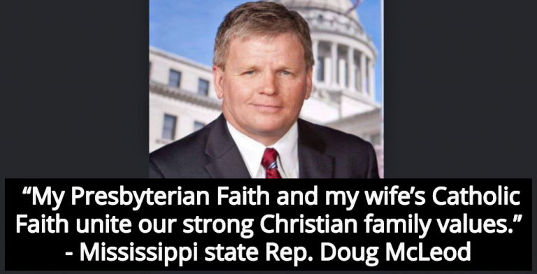 Mississippi Lawmaker Doug McLeod Punches Wife In Face For Not Getting Naked For Sex (Image via Facebook)