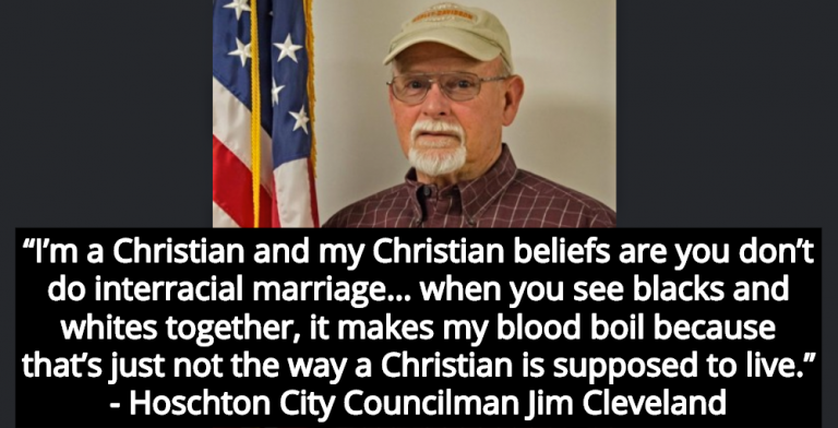 Georgia City Councilman: Interracial Marriage Is Not How Christians Should Live