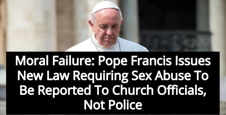 Pope Francis Mandates Sex Abuse Be Reported To Church, Not State (Image via Shutterstock)