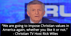 Christian TV Host Rick Wiles: We Will Impose Christian Rule In This Country (Image via Screen Grab)