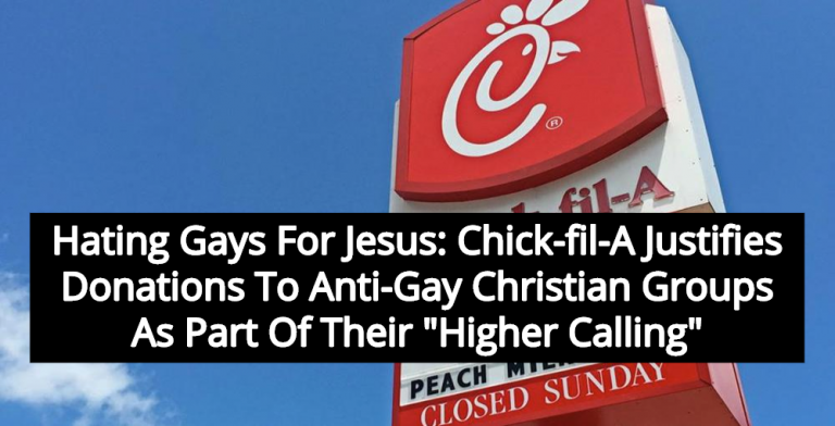 Chick-fil-A Claims Hating Gays Is Part Of Their 'Higher Calling' (Image via YouTube)