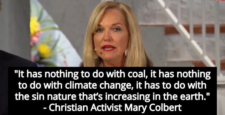 Christian Activist Mary Colbert: Sin, Not Climate Change, Causes Extreme Weather (Image via Screen Grab)