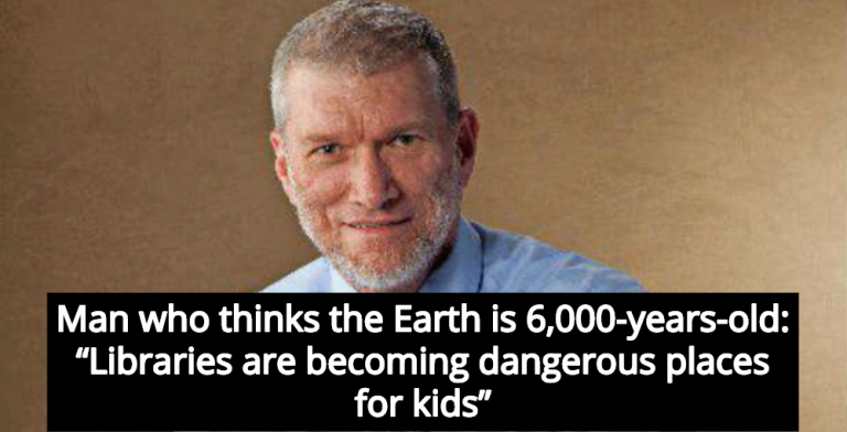 Creationist Ken Ham Claims Public Libraries Are 'Dangerous Places' For Children (Image via Twitter)