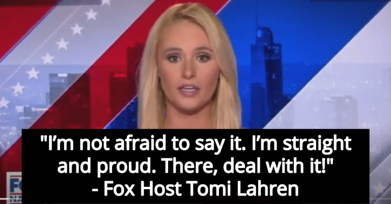 Fox Host Tomi Lahren Promotes Straight Pride Parade; Declares She's 'Straight And Proud'