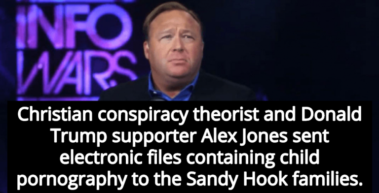 Report: Alex Jones Sent Child Porn To Sandy Hook Parents (Image via YouTube)