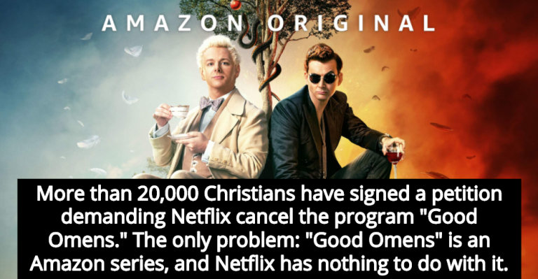 20,000 Christians Demand Netflix Cancel Amazon Prime's 'Good Omens' (Image via Amazon)