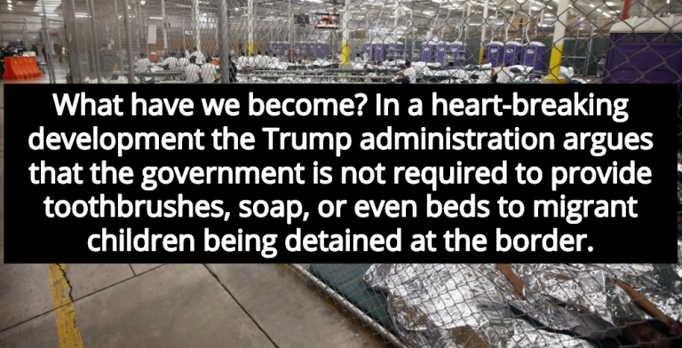 Trump Administration Argues Migrant Children Not Entitled To Soap, Toothbrushes, Beds (Image via YouTube)