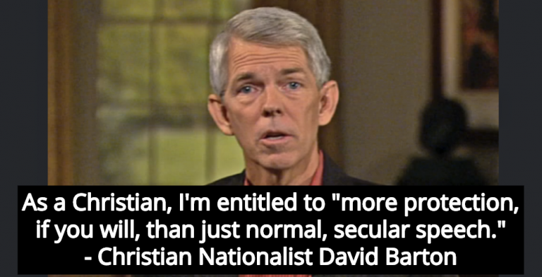 Christian Nationalist Claims Constitution Gives Christians More Protection Than Atheists (Image via Screen Grab)