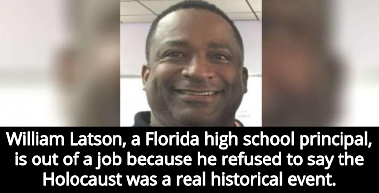 Florida High School Principal Refused To Admit Holocaust Was 'Factual, Historical Event' (Image via YouTube)
