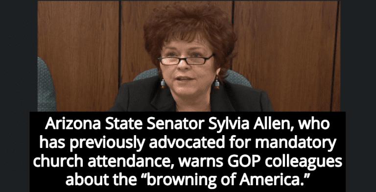 GOP Lawmaker Who Wants Mandatory Church Attendance Warns Of 'Browning Of America' (Image via Screen Grab)