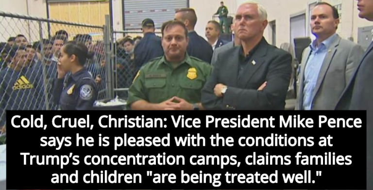 Pence Pleased With Concentration Camp Conditions, Claims Media Is 'Dishonest' (Image via Twitter)