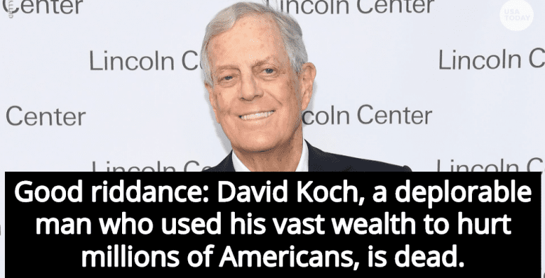 illionaire Conservative Activist David Koch Is Dead, And The Internet Celebrates (Image via YouTube)