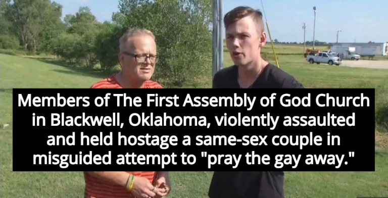 Church Congregation Violently Attacks Same-Sex Couple To 'Pray The Gay Away' (Image via Screen Grab)