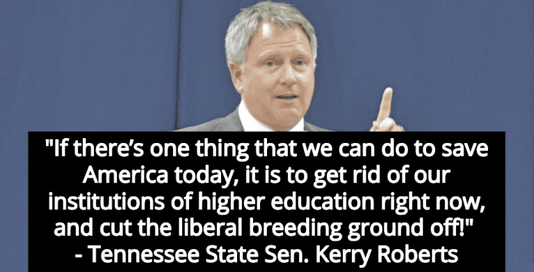 GOP Lawmaker Wants To End Higher Education To 'Save America' From Liberals (Image via Screen Grab)