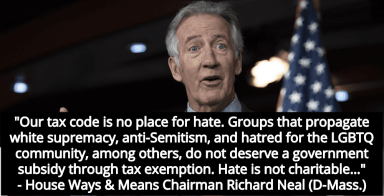 House Democrats Plan To Strip Tax-Exempt Status From Christian Hate Groups (Image via Screen Grab)