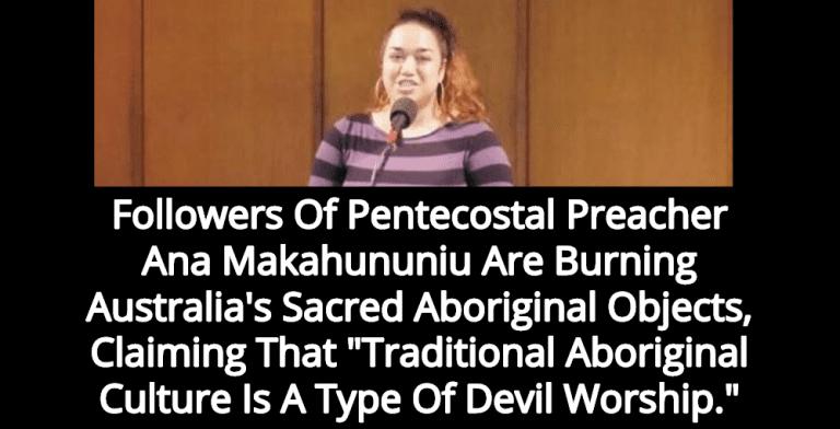 Pentecostal Christians Are Burning Australia's Sacred Aboriginal Objects (Image via Screen Grab)