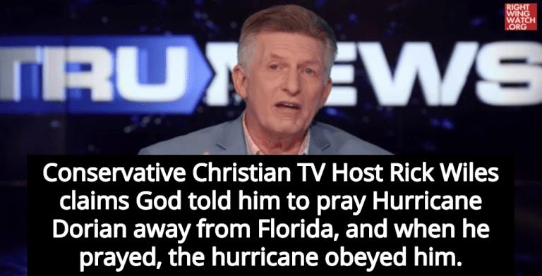 Christian TV Host Claims His Prayers Kept Hurricane Dorian Away From Florida (Image via Screen Grab)