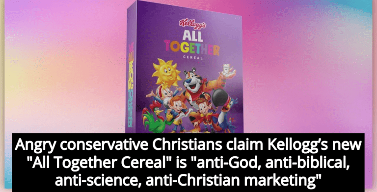 Conservative Christians Rage At Kellogg's LGBT-Friendly 'All Together Cereal' (Image via YouTube)