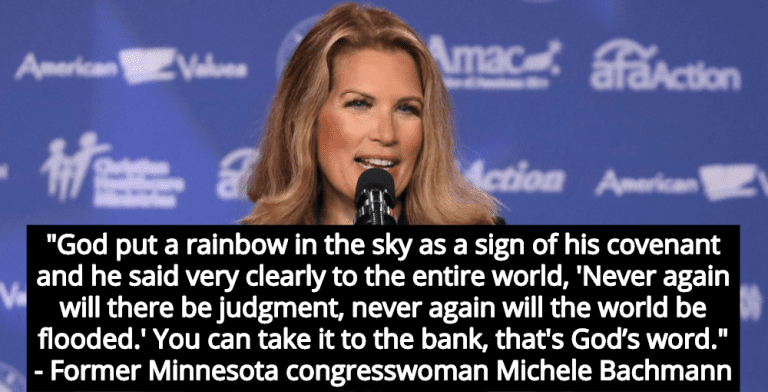 Michele Bachmann: God Says Climate Change Is Fake News (Image via YouTube)