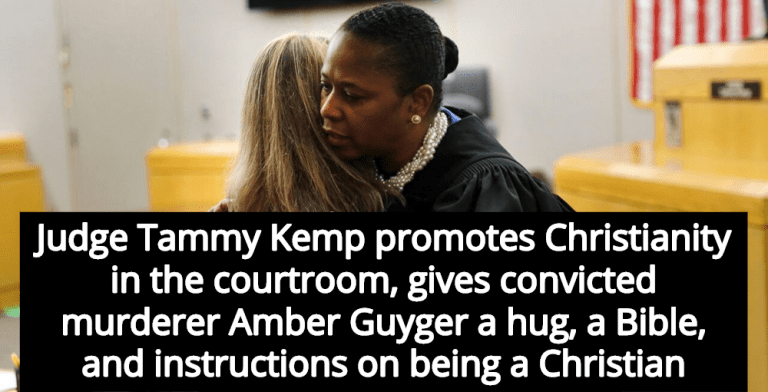 Judge Tammy Kemp Gives Amber Guyger Bible, Promotes Christianity In Court (Image via Screen Grab)