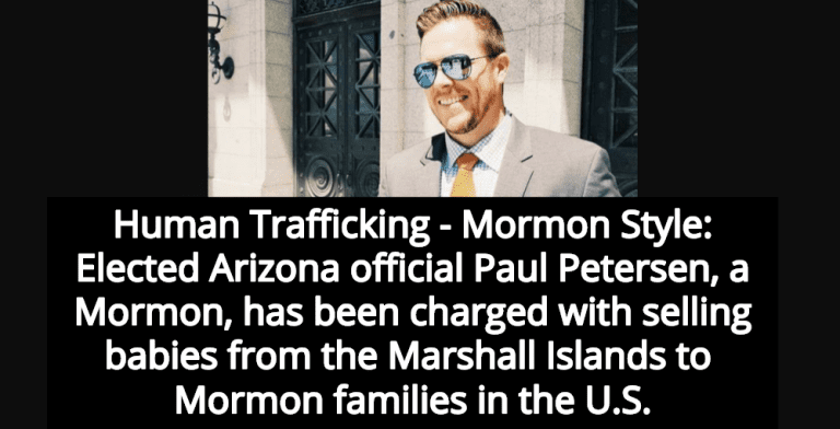 Elected Arizona Official Paul Petersen Busted Selling Babies To Mormon Families (Image via Facebook)