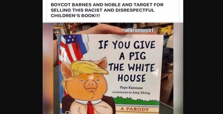 Pig In The White House: Conservatives Rage At New Book Mocking Trump (Image via Facebook)