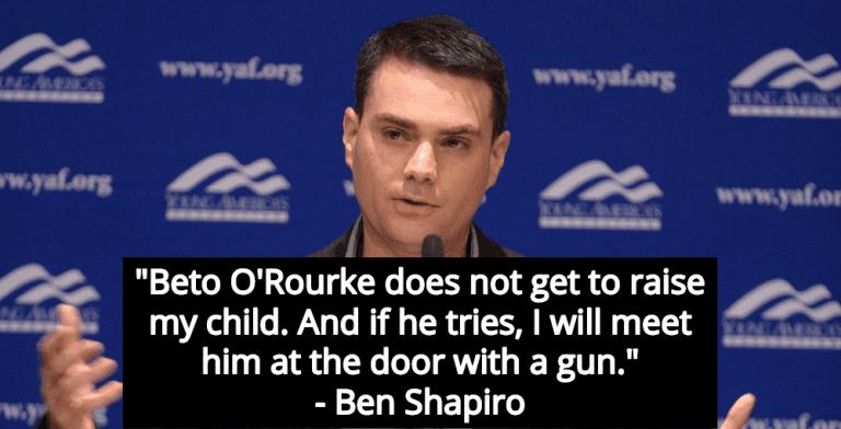 Ben Shapiro Threatens Beto O'Rourke With Gun Violence Because The Gays (Image via YouTube)