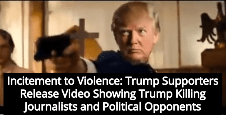Trump Murders Journalists and Democrats In Violent Video Released By Supporters (Image via Screen Grab)