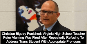 Virginia Teacher Sues School After Being Fired For Bullying Transgender Student (Image via Screen Grab)