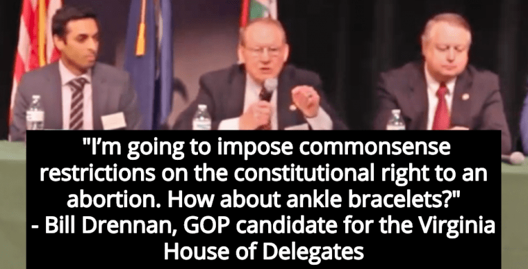 GOP Candidate: Pregnant Women Should Wear Ankle Monitors To Prevent Abortion (Image via Screen Grab)