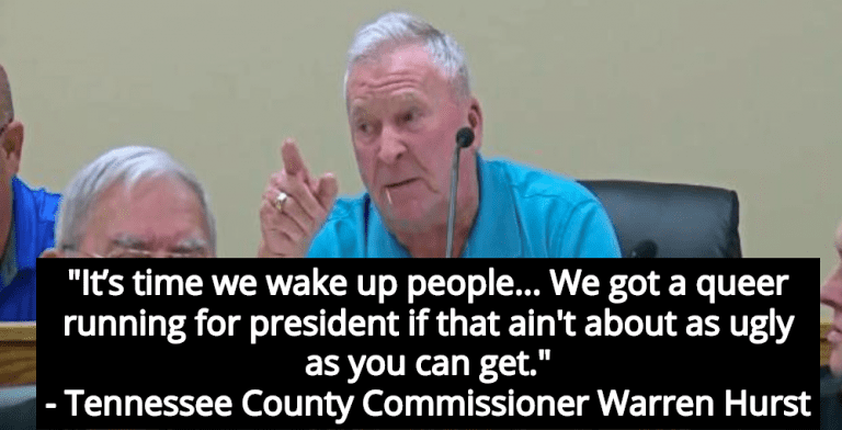 Tennessee County Commissioner Denounces Democrats In Racist, Anti-Gay Rant (Image via Screen Grab)