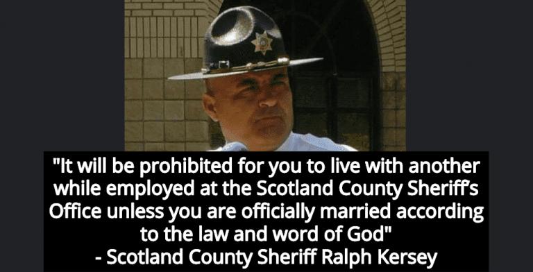 North Carolina Sheriff Prohibits Employee Cohabitation Before Marriage Because God (Image via Facebook)