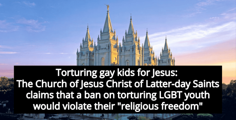 Mormon Church Opposes Ban On Conversion Therapy For LGBT Youth (Image via Facebook)